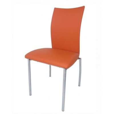 Vogue Side Chair Upholstery: Orange