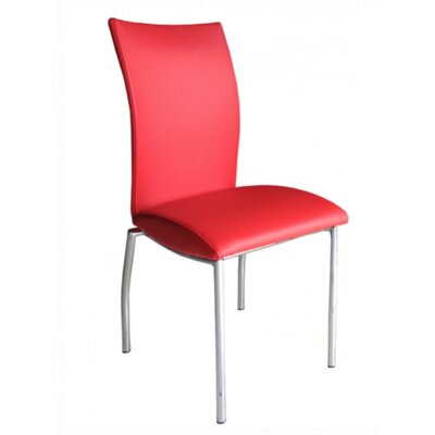 Vogue Side Chair Upholstery: Red