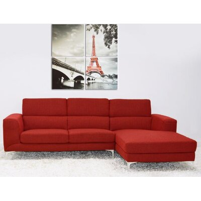 Bicado Sectional Upholstery: Red
