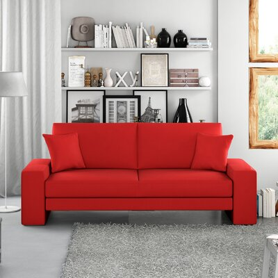 Supra Sleeper Sofa Upholstery: Red