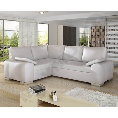 Enzo Sleeper Sofa Upholstery: White