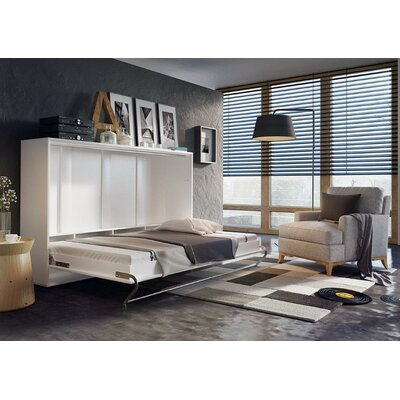 Van Wyck Murphy Bed with Mattress Size: Twin XL, Color: White Gloss