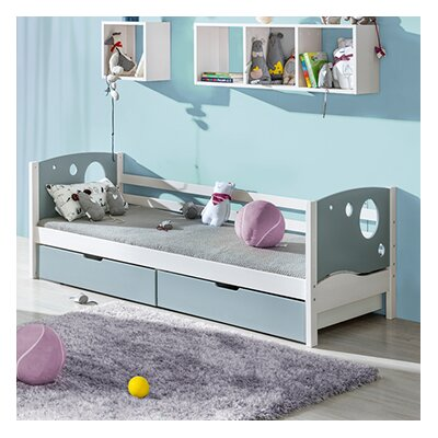 Kewin Twin Platform Bed with Drawers