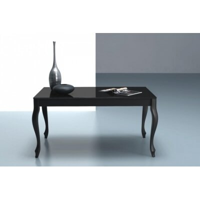 Retro Coffee Table Size: 18 H x 23.6 W x 47.2 L, Color: Black