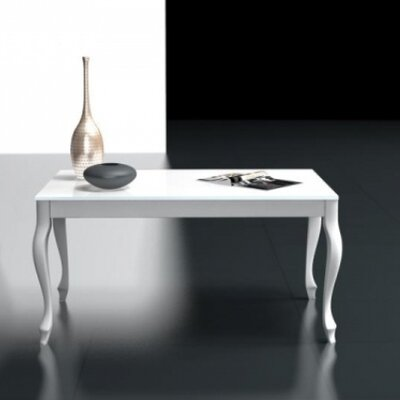 Retro Coffee Table Size: 18 H x 23.6 W x 47.2 L, Color: White