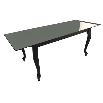 Glass Dining Table Top Finish: Black