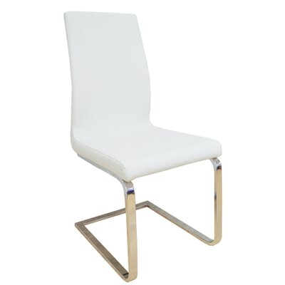 Saul Upholstered Dining Chair Upholstery Color: White