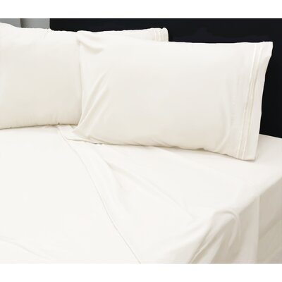 Summers 1800 Sheets Size: Double, Color: Ivory