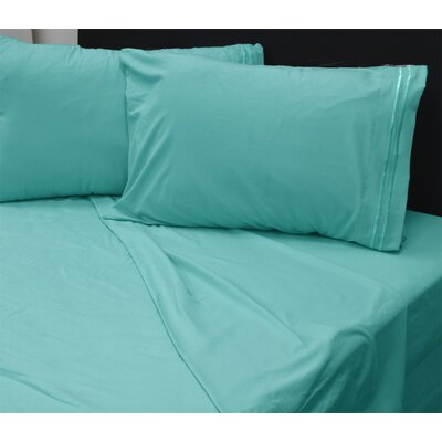Summers 1800 Sheets Size: Queen, Color: Turquoise