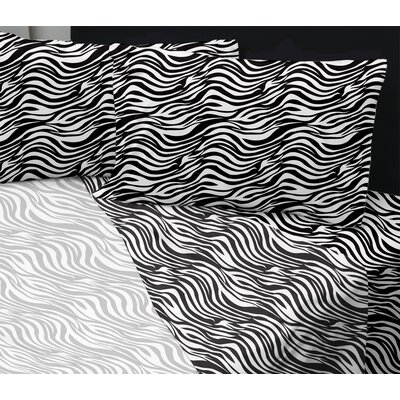 Summers Sheet Set Size: Queen, Color: Zebra White