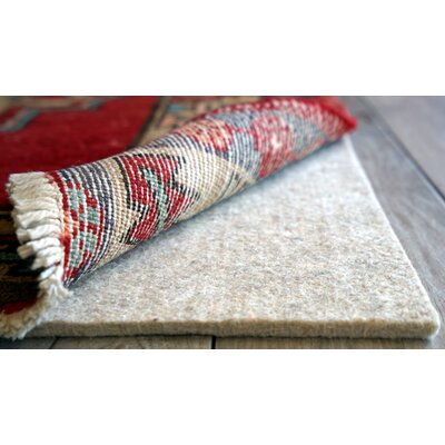 Eco Plush 0.25 Felt Area Rug Pad Rug Pad Size: Rectangle 6 x 10