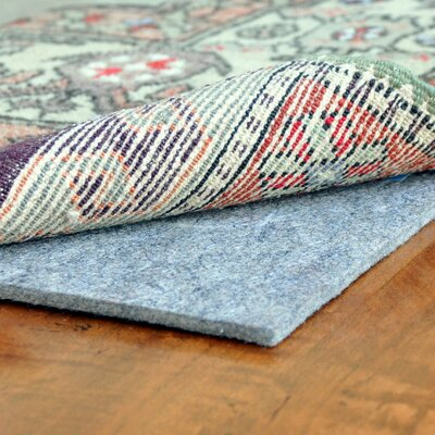 Elida Plush Fiber Extra Thick Felt Rug Pad Rug Pad Size: Rectangle 12 x 18