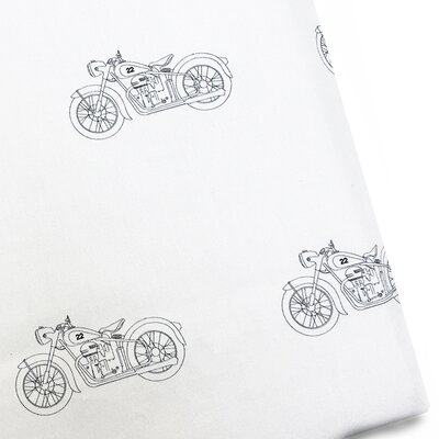 Motorcycle 220 Thread Count 100% Cotton Sateen Sheet Set
