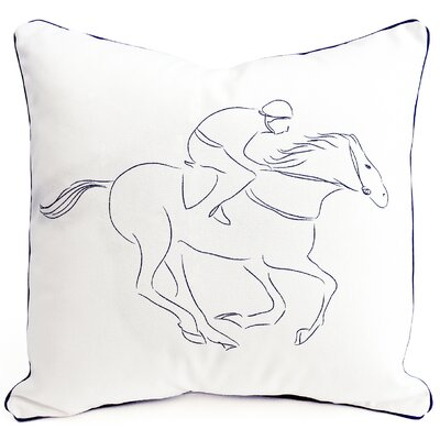 Racehorse Cotton Pillow Cover