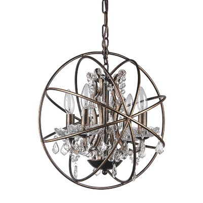 Leung 4-Light Globe Pendant