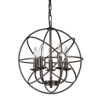 Dover 5-Light Globe Pendant