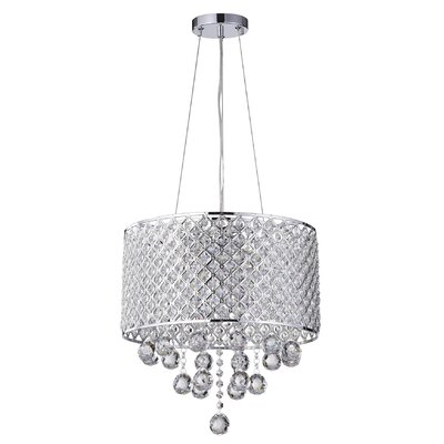 Ginnia 4-Light Crystal Chandelier