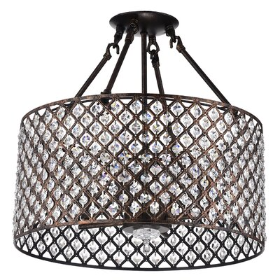 Marya 4-Light Semi-Flush Mount Finish: Antique Copper