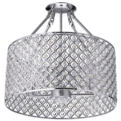 Clemence 4-Light Semi-Flush Mount Finish: Chrome