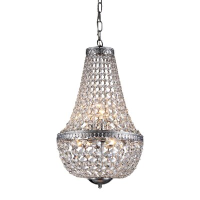 Crystal 6-Light Empire Chandelier