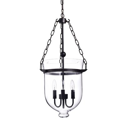 Belita Glass 3-Light Schoolhouse pendant