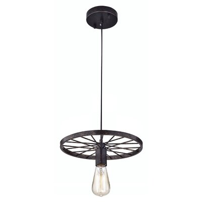 Bouck Wheel Industrial 1-Light Design Pendant