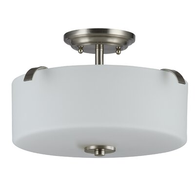 Gomeisa Glass 3-Light Semi Flush Mount