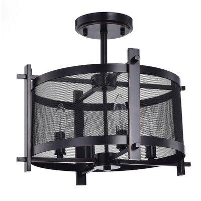Aludra Metal Mesh 4-Light Semi Flush Mount