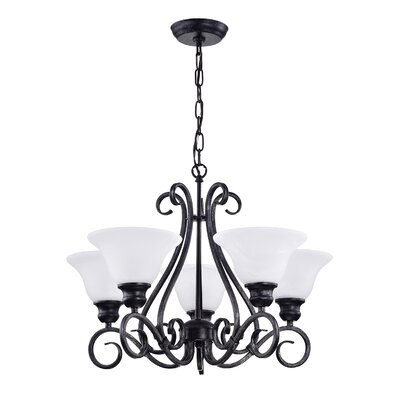 Classic 5-Light Shaded Chandelier