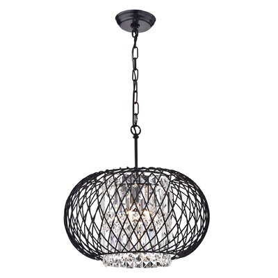 Crystal 3-Light Drum Chandelier
