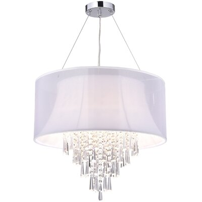 Crystal 4-Light Drum Chandelier