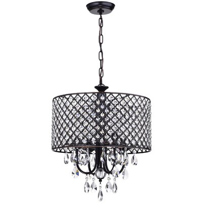 Clemence Crystal 4-Light Drum Chandelier