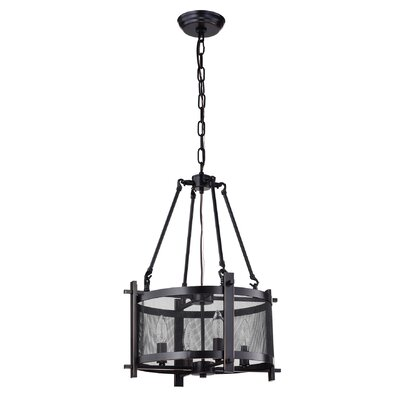Boudreaux Metal Mesh 4-Light Drum Chandelier