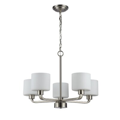 Sakar Glass 5-Light Drum Chandelier