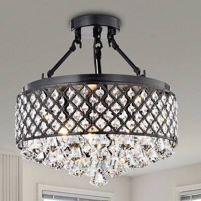 Gracelyn 4-Light Semi Flush Mount
