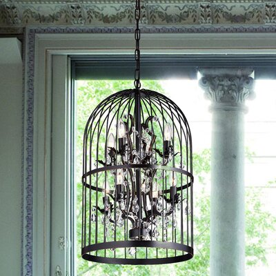 Jaquez Crystal 8-Light Candle-Style Chandelier