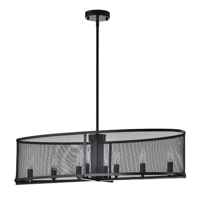 Aludra Metal Mesh 8-Light Kitchen island pendant