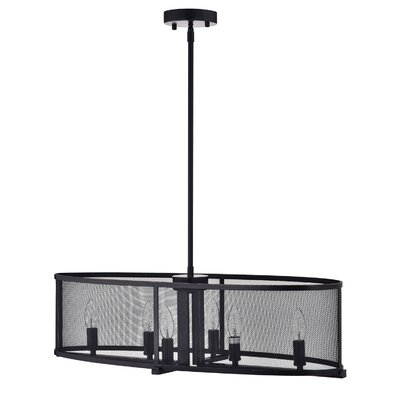 Aludra Metal Mesh 6-Light Kitchen island pendant