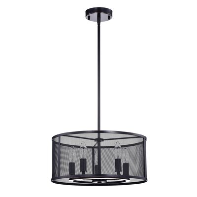 Aludra Metal Mesh 5-Light Drum Pendant