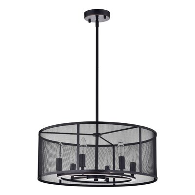 Aludra Metal Mesh 6-Light Drum Chandelier