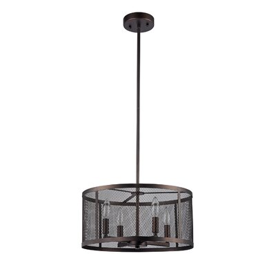 Audra Metal Mesh 4-Light Drum Chandelier