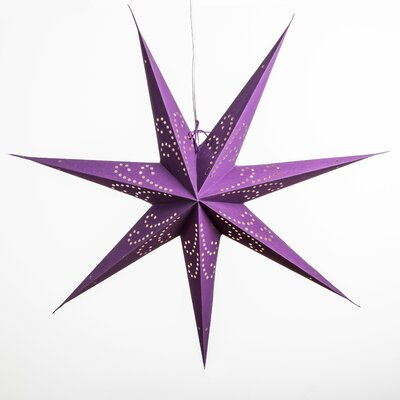 Image of Fountain Paper Star Light Color: Purple