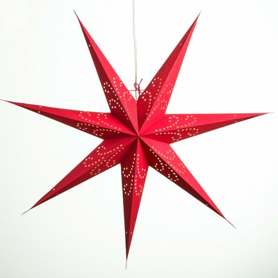 Image of Fountain Paper Star Light Color: Deep Pink