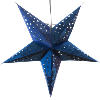 Hologram Paper Star Pendant Color: Blue