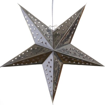 Hologram Paper Star Pendant Color: Silver