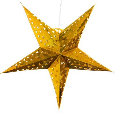 Hologram Paper Star Pendant Color: Gold