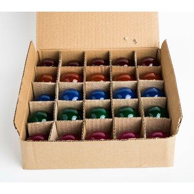 5W E12-Light Bulb (Pack of 25) Finish: Multi Color