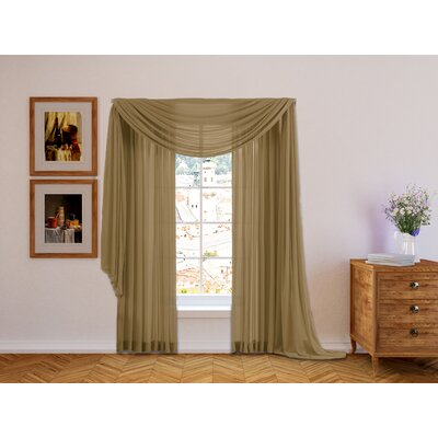 Lucia Sheer Voile Window Scarf Curtain Valance