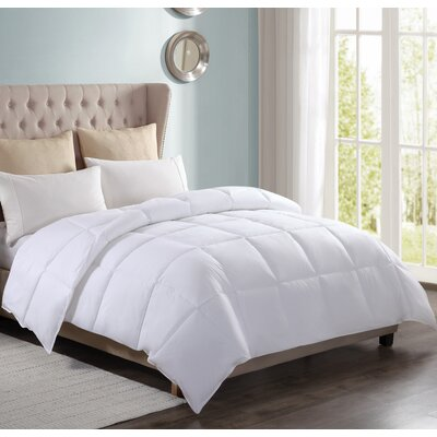 100% Cotton All Season Down Alternative Comforter Size: King