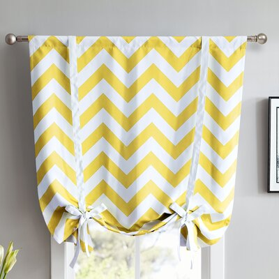 Chevron Print Blackout Tie-Up Shade Finish : Bright Yellow